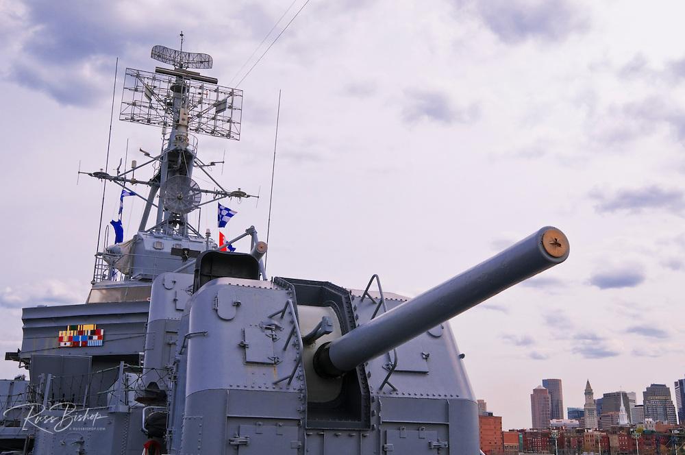 "5"" air/surface gun on the USS Cassin Young (National Historic Landmark), Charlestown Navy Yard, Boston, Massachusetts"