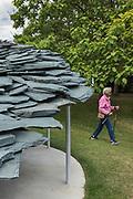 London, England, UK, July 2 2019 - Serpentine Pavilion 2019 by Japanese Architect Junya Ishigami.