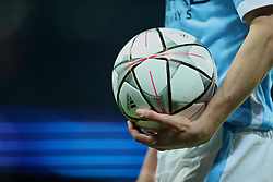 MANCHESTER, ENGLAND - Tuesday, March 15, 2016: The official Adidas Champions League Final Milano 2016 match-ball during the UEFA Champions League Round of 16 2nd Leg match between Manchester City and FC Dynamo Kyiv at the City of Manchester Stadium. (Pic by David Rawcliffe/Propaganda)