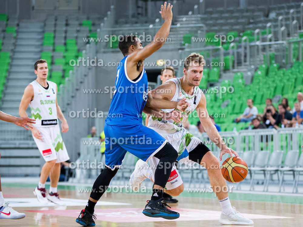 Zoran Dragic of Slovenia during friendly basketball match between National teams of Slovenia and G. Britain, on August 20, 2016 in Arena Stozice, Ljubljana, Slovenia. Photo by Urban Urbanc / Sportida