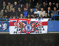 Football - 2018 / 2019 Premier League - Chelsea vs. Everton<br /> <br /> The Chelsea fans display a banner before the Minutes silence on Remembrance  day for the anniversary of the ending of the first World War, at Stamford Bridge.<br /> <br /> COLORSPORT/ANDREW COWIE