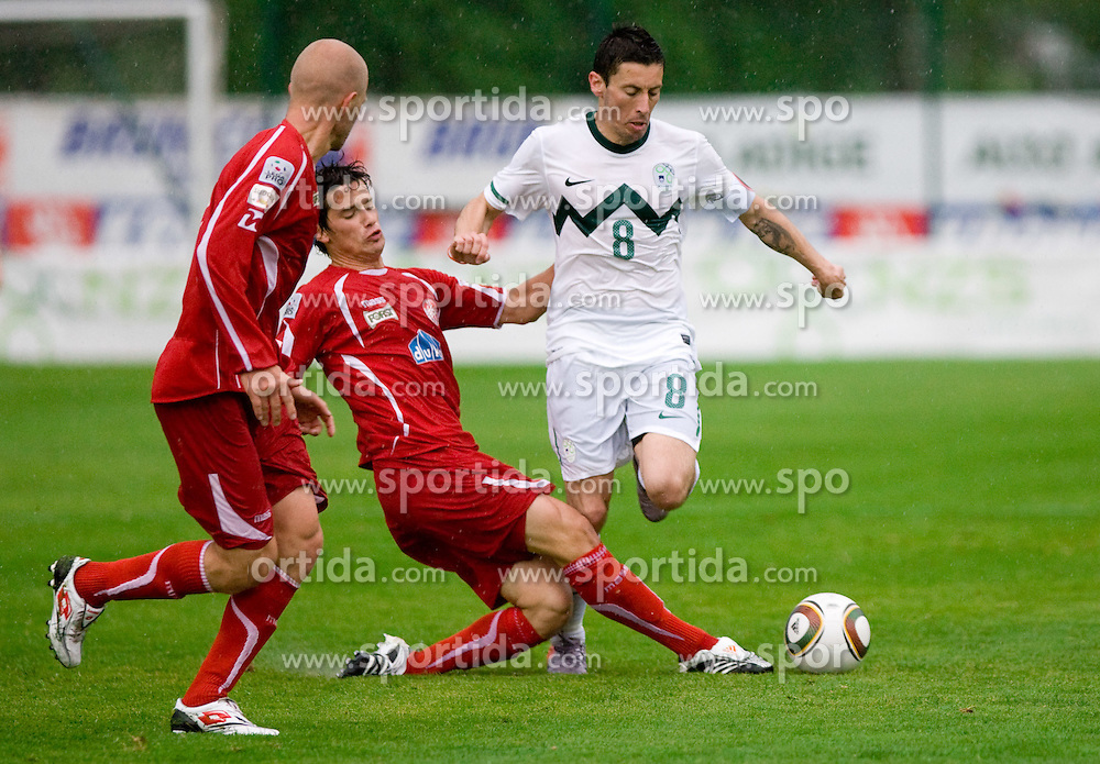 Robert Koren of Slovenia at football match between National team of Slovenia and FC Sud Tirol, Bolzano  on May 29, 2010, at Sports park Riscone, in Brunico / Bruneck, Italy. Slovenia won 3-0. (Photo by Vid Ponikvar / Sportida)