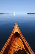 Canoeing on Lake Champlain, Vermont