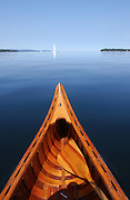 Canoeing on Lake Champlain, Vermont