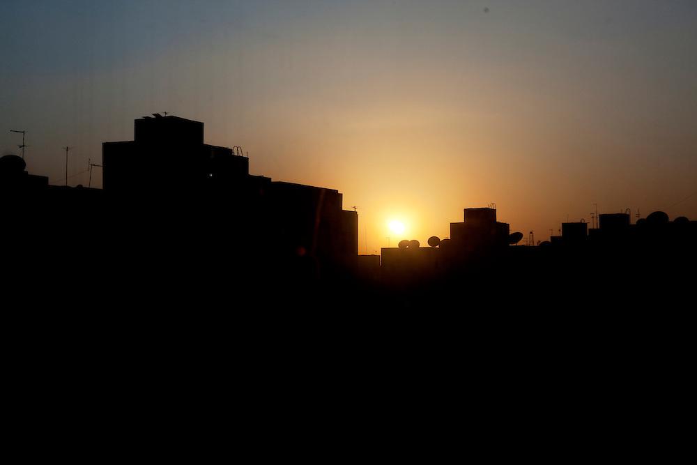 Sunset over Cairo. Cairo, Egypt.