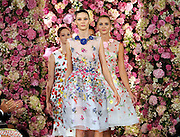 The Oscar de la Renta Spring 2015 collection is modeled during Fashion Week in New York, Tuesday, Sept. 9, 2014.  (AP Photo/Diane Bondareff)