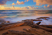 Sunrise at Lydgate Beach in Kauai Hawaii