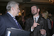 Simon Burt and Adam Mars-Jones, The Colman Getty Pen Quiz, Cafe Royal. London. 27 November 2006. ONE TIME USE ONLY - DO NOT ARCHIVE  © Copyright Photograph by Dafydd Jones 66 Stockwell Park Rd. London SW9 0DA Tel 020 7733 0108 www.dafjones.com