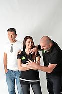 Salone XMode in Studio i 3 soci Stefania, Massimiliano, Mauro, © foto Daniele Mosna