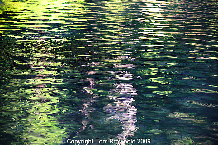Water reflections and ripples, Rogue river, OR.