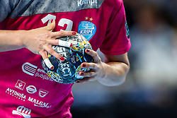 A ball during hanball match between RK Krim Mercator and DHK Banik Most of Women's EHF Champions League 2019/20, on October 6, 2019 in Kodeljevo, Ljubljana, Slovenia. Photo by Matic Klansek Velej / Sportida