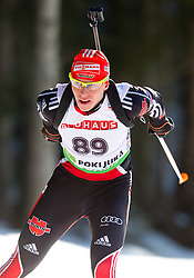 Daniel Boehm of Germany during the Men 20 km Individual of the e.on IBU Biathlon World Cup on Thursday, December 16, 2010 in Pokljuka, Slovenia. The fourth e.on IBU World Cup stage is taking place in Rudno Polje - Pokljuka, Slovenia until Sunday December 19, 2010.  (Photo By Vid Ponikvar / Sportida.com)