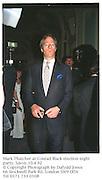 Mark Thatcher at Conrad Black election night party. Savoy.10.4.92<br />© Copyright Photograph by Dafydd Jones<br />66 Stockwell Park Rd. London SW9 0DA<br />Tel 0171 733 0108