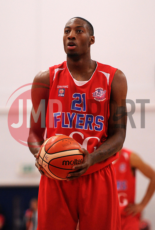 Tyrone Lee of Bristol Flyers prepares to shoot a free throw - Photo mandatory by-line: Paul Knight/JMP - Mobile: 07966 386802 - 10/10/2015 - BASKETBALL - SGS Wise Arena - Bristol, England - Bristol Flyers v Newcastle Eagles - British Basketball League