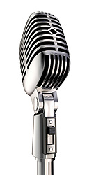 50's microphone on white, Includes clipping path.