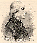 Joseph Black (1728-1799) Scottish chemist, born in Bordeaux, France, son of a wine merchant. Professor of chemistry at Glasgow University. In 1757 he isolated carbon dioxide. Evolved the theory of latent heat. Engraving, 1881.