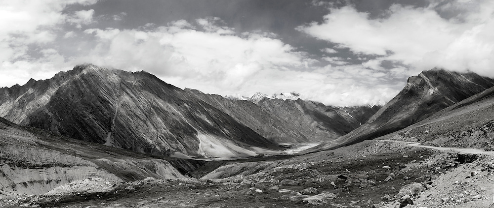 Panoramic view of Zanskar region of northern India, Jammu Kashmir.