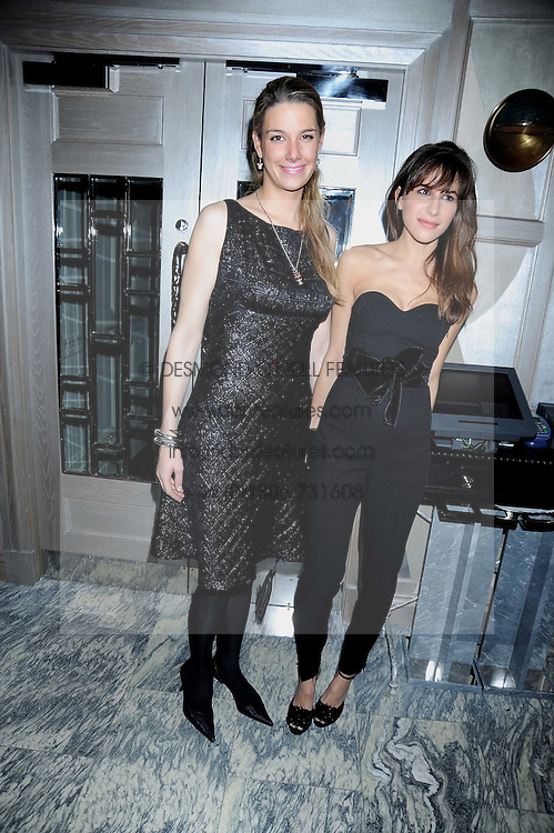 Left to right, CAMILLA VON STAUFFENBERG and CAROLINE SIEBER at a party for Yves Saint Laurent's Creative Director Stefano Pilati given by Colin McDowell held at The Connaught Bar, The Connaught, Mount Street, London on 29th October 2008.