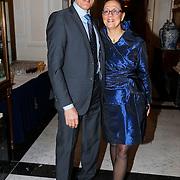 NLD/Amsterdam/20130327 - Inloop Schaatsgala 2012, Ard Schenk en partner Carolien van der Heijden