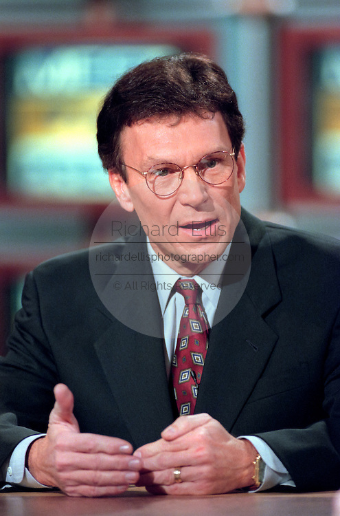 U.S. Senator Majority Leader Tom Daschle discusses the possible Senate trial of President Bill Clinton following his impeachment by the House during NBC's Meet the Press December 27, 1998 in Washington, DC.
