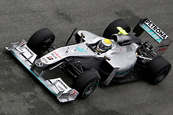 JEREZ DE LA FRONTERA, SPAIN - Wednesday, February 10, 2010: Nico Rosberg (Mercedes GP) during testing at the Circuito de Jerez. (Pic by Juergen Tap/Propaganda/Hoch Zwei)
