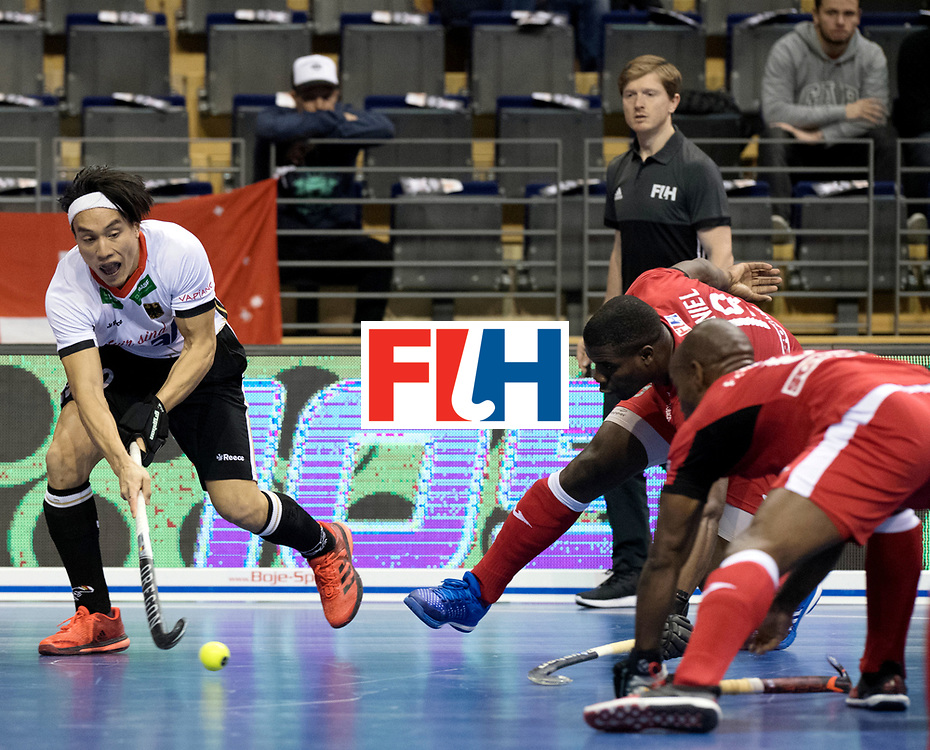 BERLIN - Indoor Hockey World Cup<br /> Men: Germany -  Trinidad &amp; Tobago<br /> foto: DAN NGUYEN.<br /> WORLDSPORTPICS COPYRIGHT FRANK UIJLENBROEK