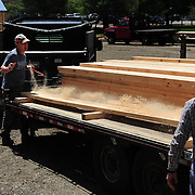 Gundalow Pavilion Lumber Delivery Day