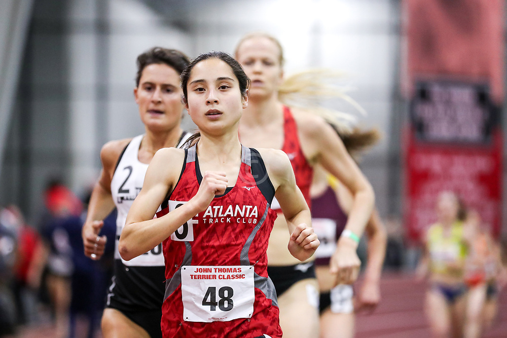 womens 3000 meters, heat 1, Atlanta TC, Meyer<br /> BU John Terrier Classic <br /> Indoor Track & Field Meet