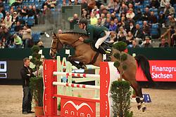 Skrzyczynski, Jaroslaw (POL), Quintella<br /> Leipzig - Partner Pferd 2016<br /> 1. Qualifikation Youngster Tour<br /> © www.sportfotos-lafrentz.de / Stefan Lafrentz