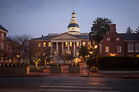 The State House, Annapolis Maryland, is home to the state's government.