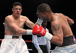 December 16, 2010; New York, NY; USA;  Joel Castillo knocks out Angel Gonzalez in the second round of their bout at Roseland Ballroom.