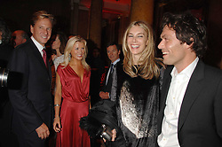 Left to right, ROB HERSOV, DR KATIE JAMES, KIM HERSOV and    at a party to celebrate the launch of the 'Inde Mysterieuse' jewellery collection held at Lancaster House, London SW1 on 19th September 2007.<br />