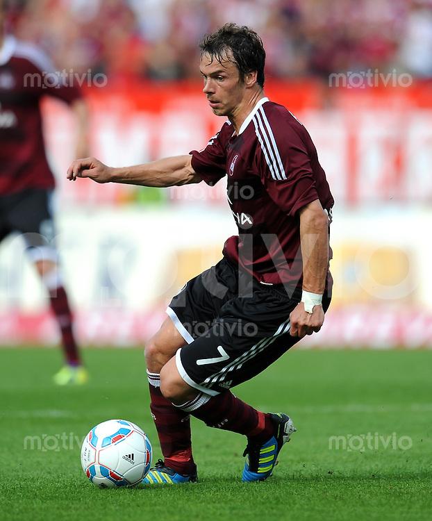 FUSSBALL   1. BUNDESLIGA  SAISON 2011/2012   2. Spieltag 1 FC Nuernberg - Hannover 96          13.08.2011 Markus Feulner (1 FC Nuernberg)