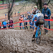 Sunday, Dec. 16, 2018 — Katie Compton dominated the Elite women's field at the 2018 USA Cycling Cyclocross National Championships 18.2 in Louisville, KY. #CXNATS #photopresse.photoshelter.com #CYCLOCROSS #CX #FUJIXPRO2 #FUJIFILM #KATIEFNCOMPTON