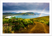 View from Cape Bruny over Lighthouse Bay [Cape Bruny, Tasmania]<br /><br />Image ID: 207179. Order by email to orders@girtbyseaphotography.com quoting the image ID, preferred print size & media. Current standard size prices are published on the Pricing page. Custom sizes also available.