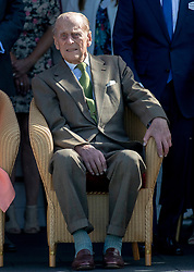 The Duke of Edinburgh during the polo at the Guards Polo Club, Windsor Great Park, Egham, Surrey.