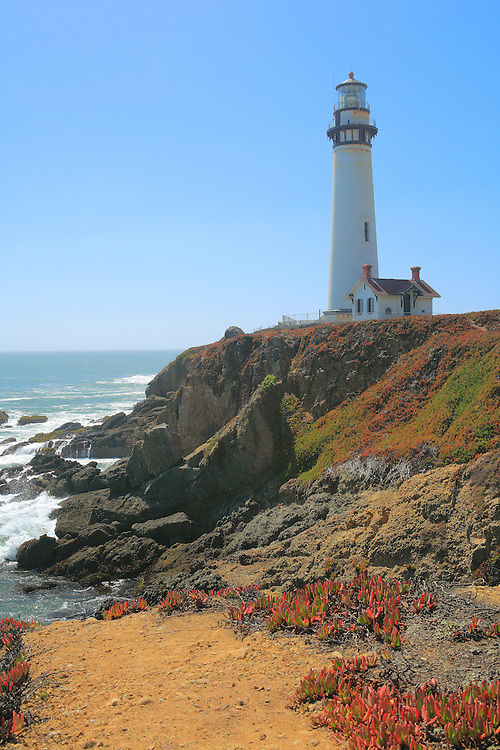 Pigeon Point Lighthouse Cliff View - North Santa Cruz County, CA