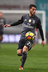 January 13, 2018 - Braga, Braga, Portugal - Benfica's Portuguese midfielder Pizzi in action during the Premier League 2017/18 match between SC Braga and SL Benfica, at Municipal de Braga Stadium in Braga on January 13, 2018. (Credit Image: © Dpi/NurPhoto via ZUMA Press)