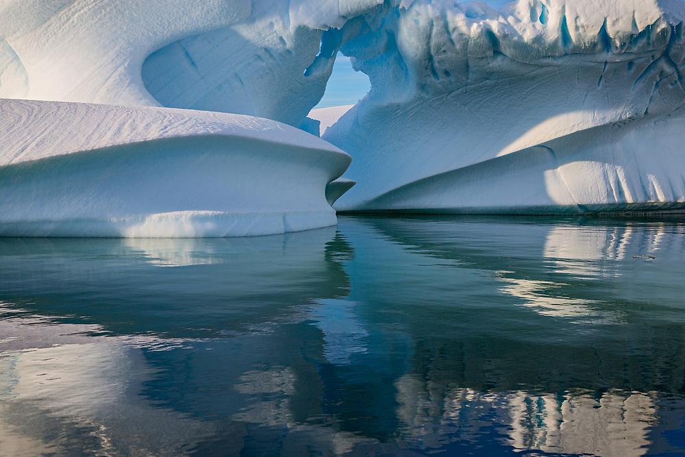 Iceberg Arch, Pleneau Bay, Antarctic Peninsula, Antarctica 2014