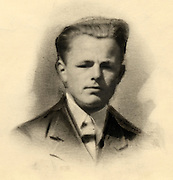 A drawing like photograph of a young man