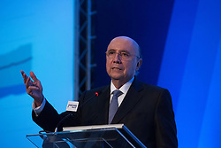 June 23, 2017 - Sao Paulo, Sao Paulo, Brazil - HENRIQUE MEIRELLES, Minister of Finance of Brazil, attends on summit promoted by American Chamber of Commerce - AMCHAM, with the participation of specialists in credit and capital markets on the prospects of private and public financing in Brazil. (Credit Image: © Paulo Lopes via ZUMA Wire)