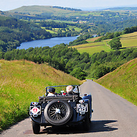 Stephen Owens and Collette Owens in their Jaguar SS100 on the Royal Automobile Club 1000 Mile Trial 2015