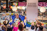 Prinses Laurentien der Nederlanden leest woensdagochtend 25 januari 2017 voor tijdens het Nationale