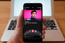 Using iPhone smartphone to display show on BBC Radio Asian Network radio station