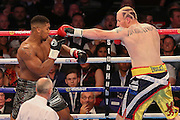 during the Anthony Joshua and Gary Cornish Vacant Commonwealth & WBC International Heavyweight title fight at the O2 Arena, London, United Kingdom on 12 September 2015. Photo by Phil Duncan.