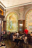 Turkey. Istanbul. Yemak kulubu cafe restaurant in istiklal avenue, main street of the modern city / Istamboul Avenue Istiklal