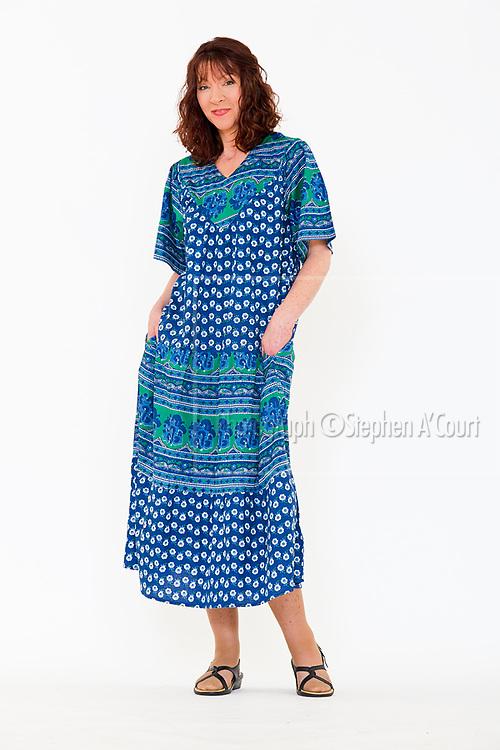 Francesca Lounge Dress Royal. Photo credit: Stephen A'Court.  COPYRIGHT ©Stephen A'Court