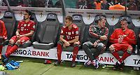 FUSSBALL  DFB POKAL FINALE  SAISON 2017/2018 IN BERLIN FC Bayern Muenchen - Eintracht Frankfurt        19.05.2018 Enttaeuschung FC Bayern Muenchen; Mats Hummels, Joshua Kimmich, Physiotherapeut Gianni Bianchi, Franck Ribery (v.li.) nach dem Spiel