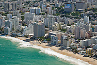 Aerial view of Condado beach