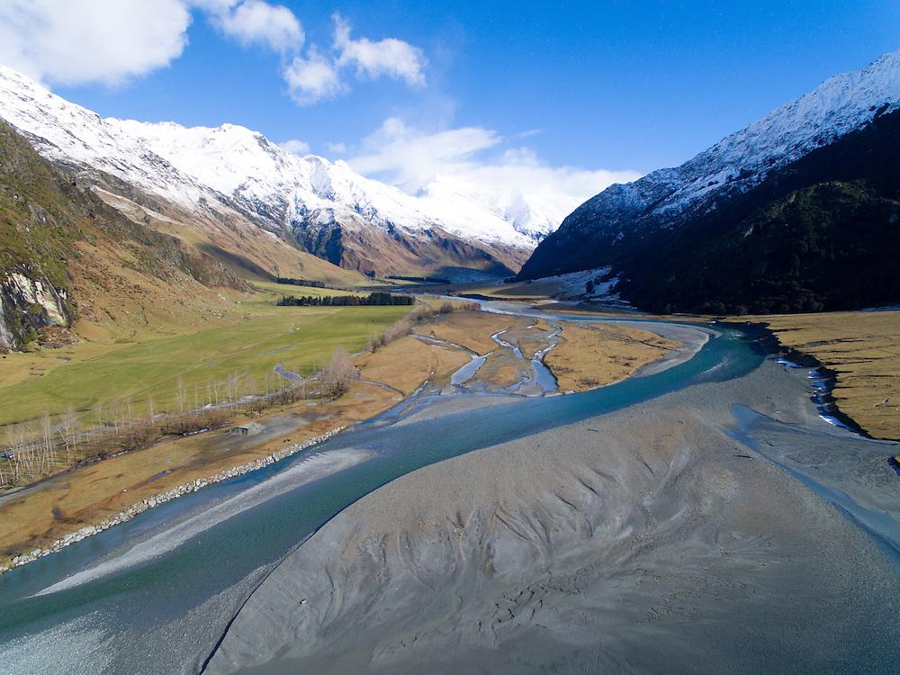 Matukituki River,  Mount Aspiring National Park, New Zealand